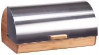 Zeller Brotkasten Bamboo, Echter Hingucker in jeder Küche, Maße: 39 x 25,5 x 18,5 cm, Farbe: natur / silber