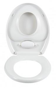 WENKO WC-Sitz Family, mit Absenkautomatik, Der 2 in 1 WC-Sitz für Kinder und Eltern, mit Easy-Close Absenkautomatik, WC-Doppelsitz, Farbe: weiß
