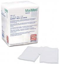 MaiMed® Mull-Schlitzkompressen, unsteril, zur äußeren Wundversorgung, 100 Stück, 7,5 x 7,5 cm, 12-fach
