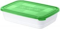 Rotho FREEZE Gefrierdose, Frischhaltedose aus Kunststoff, 2,7 Liter, porcelain/ pine grün