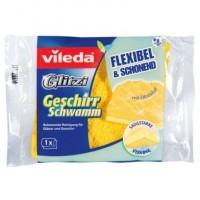 Vileda Glitzi Geschirrschwamm, Schonende Reinigung für Gläser und Geschirr, 1 Packung = 1 Stück