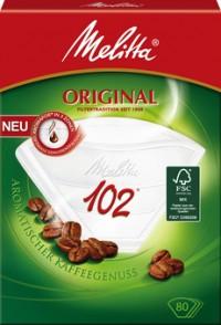 Melitta Haushaltsprodukte GmbH & Co. KG Melitta® Filtertüten 102/80 AROMA, weiß mit 3 Aromazonen, 1 Packung = 80 Stück 4006508206919