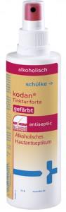 Schülke kodan® Tinktur forte Hautantiseptikum, gefärbt, Alkoholisches Hautantiseptikum, 250 ml - Flasche mit Überkopfsprühpumpe