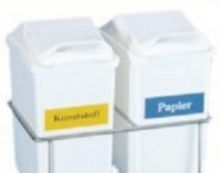 Novocal GmbH Novocal Wertstoffaufkleber, klein, für Wertstoffsammler, Glas, grün WAK-KL-Glas