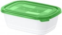 Rotho FREEZE Set Gefrierdosen, 3-teilig, 1 Liter , Frischhaltedosen aus Kunststoff, Maße: 195 x 135 x 100 mm, Farbe: porcelain/ pine grün