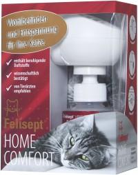Felisept Home Comfort Set, Wohlbefinden und Entspannung für Ihre Katze, Verdampfer & Flakon