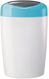 Sangenic Simplee Windeleimer, Für eine einfache und schnelle Windelentsorgung, Farbe: weiß / aquablau