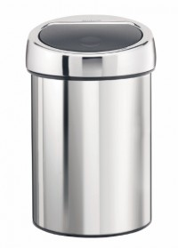 Brabantia Touch Bin, 3 l, für Bad und WC, brilliant steel