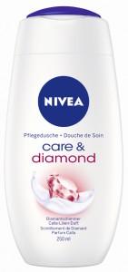 NIVEA Body Cleansing Pflegedusche, 250 ml - Flasche, Care & Diamond