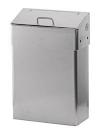 SanTRAL HBU Hygiene-Abfallbox 10 l, Mit Schleusen-Einwurfklappe, Edelstahl, pulverbeschichtet, weiß