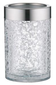 Alfi Aktiv-Flaschenkühler Crystal, Mit doppelwandigem Acryl-Körper für 0,7 l und 1,0 l Flaschen, Farbe: ice